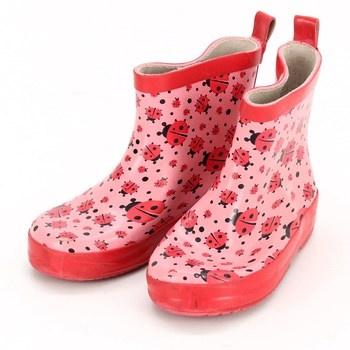 Dívčí holínky Playshoes s beruškami