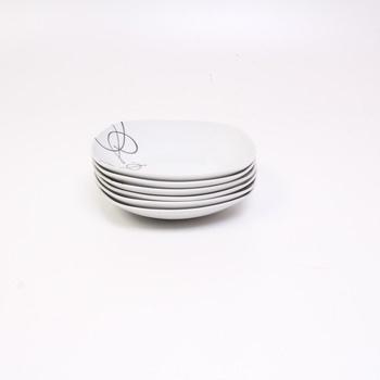 Porcelánové talíře Mäser hluboké se vzorem