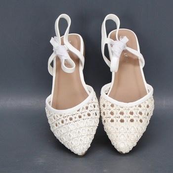 Dámské sandále s plnou špičkou New Look bílé