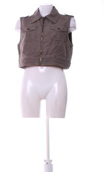 Dámská vesta REFREE hnědé barvy