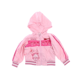 Dívčí bunda FROG růžová s náplety