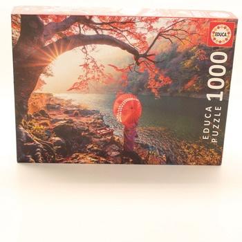Puzzle Educa Východ slunce u řeky Katsury