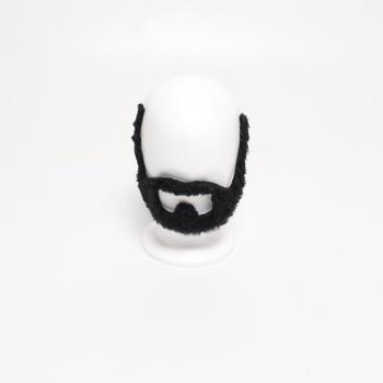 Umělé karnevalové vousy černé
