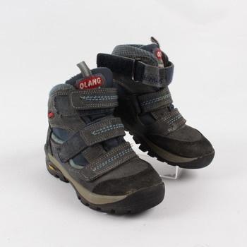 Dětské zimní boty Olang modročerné e9b77ea965