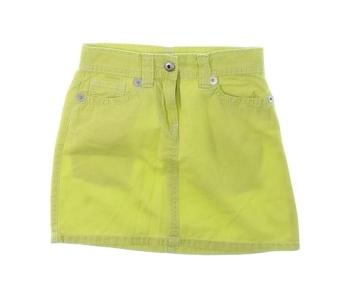 Dívčí džínová sukně žlutá
