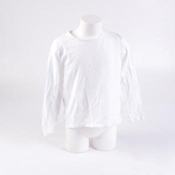 Tričko C&A bílé s dlouhým rukávem