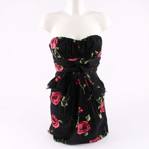 Dámské šaty Teezeme černé s květinami - bazar  ab60471156