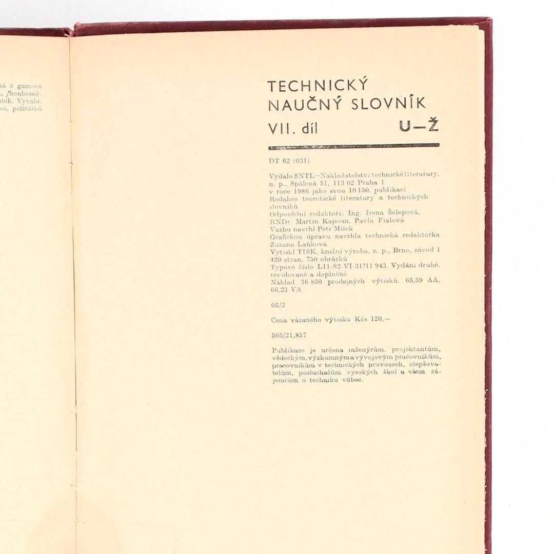 Kolektiv autorů: Technický naučný slovník VII