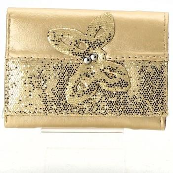 Dámská peněženka zlatá s flitry 8233f5fcd7