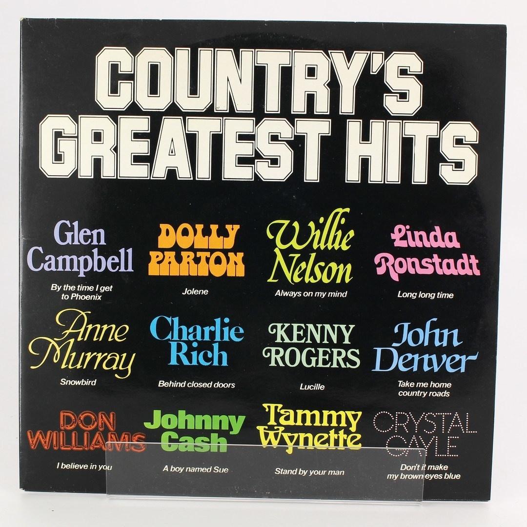 Gramofonová deska- Country's greatest hits