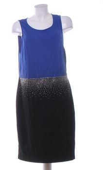 Dámské elegantní šaty BodyFlirt černo-modré