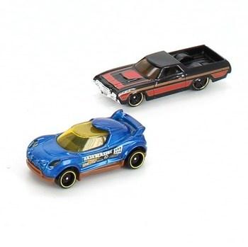 Autíčka Hot Wheels závoďák a pickup, 2 ks