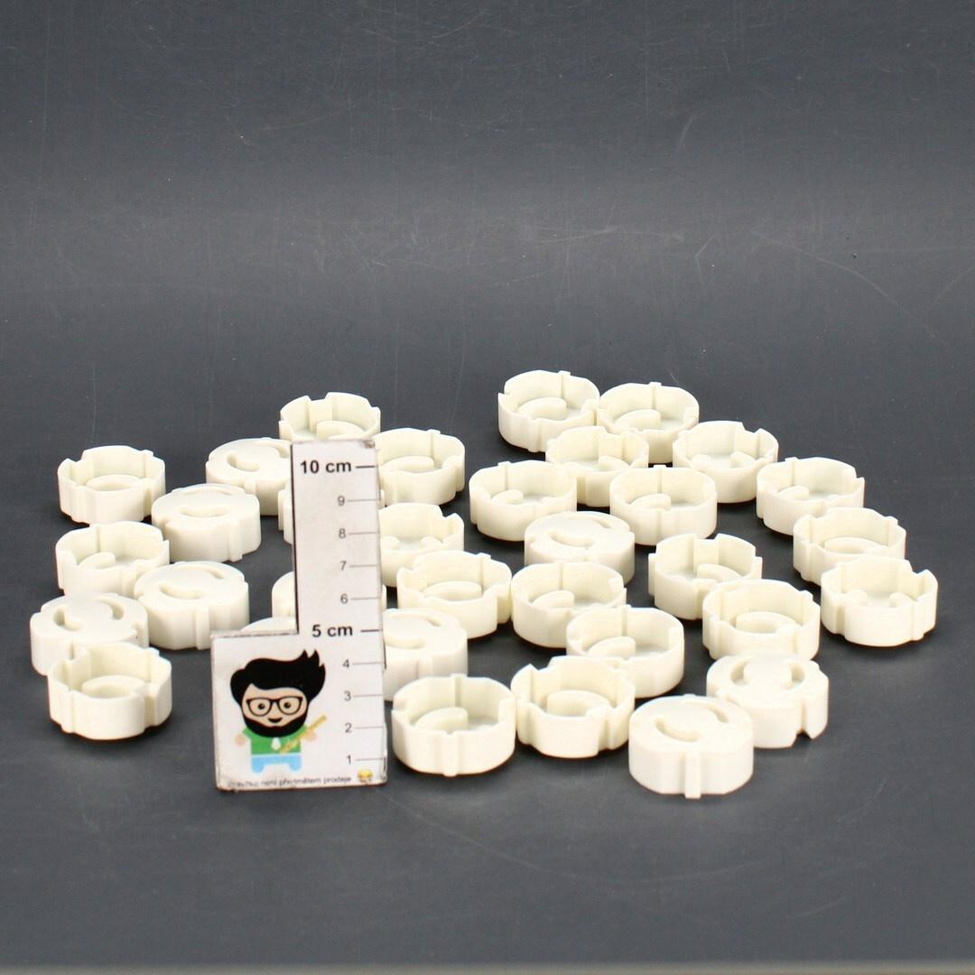 Záslepky zásuvek Beartop 36695 set 50ks