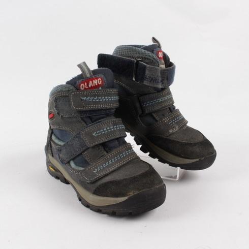Dětské zimní boty Olang modročerné - bazar  eba26867c2