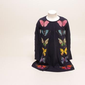 Dívčí šaty Desigual černé s motýly