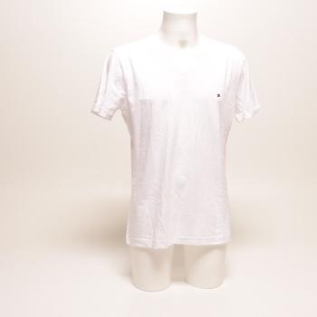 Pánské tričko Tommy Hilfiger V výstřih bílé