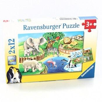 Puzzle Ravensburger 07602 Zvířata v Zoo 2x12