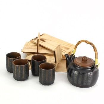 Porcelánová čajová sada, konvička a šálky