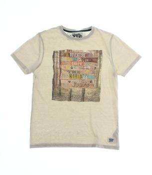Dětské tričko M&S s potiskem béžové