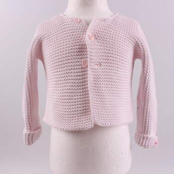 Dívčí svetr Petit Bateau světle růžový 9e4d0a81b3