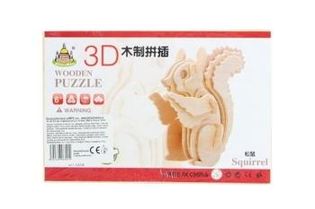 Dřevěné puzzle Lamps 3D veverka