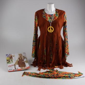 Karnevalový kostým dámský Hippies