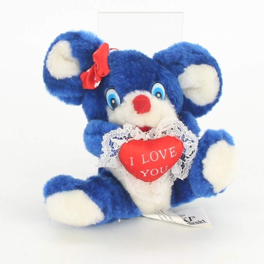 Plyšová hračka modrá myš