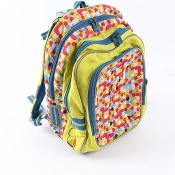 Školní batoh Topgal žlutý s barevnými prvky
