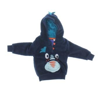 Kojenecká mikina Lupilu plyšová modrá