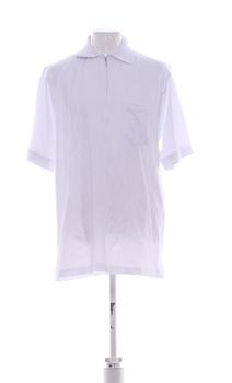 Pánské tričko s límečkem bílé