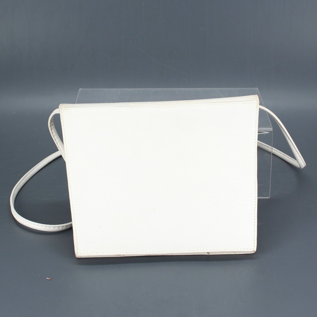 Dámská kabelka kožená bílé barvy