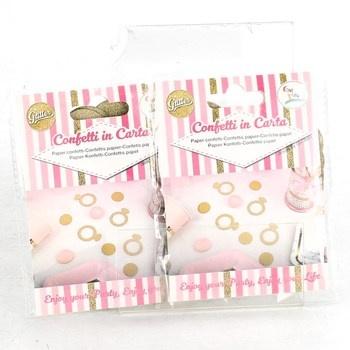 Papírové konfety Givi Italia zlaté 2 balení