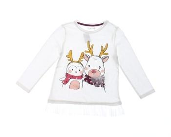 Dívčí tričko Pepco bílé s obrázkem
