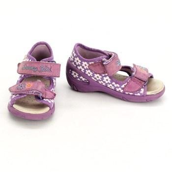 Dívčí sandálky Befado fialové