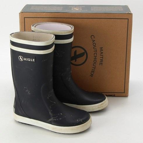 Dětské gumové boty Aigle černé