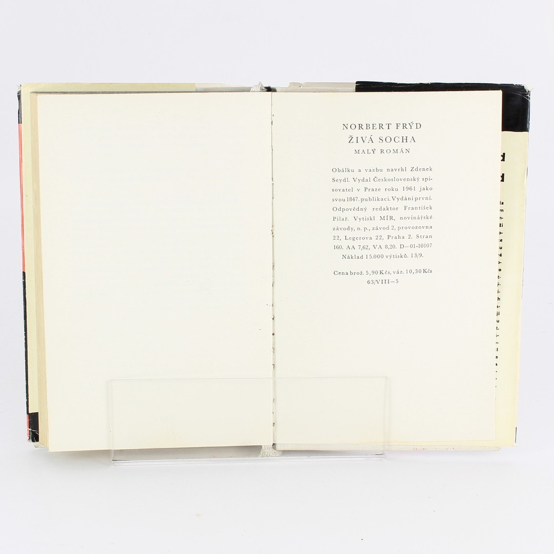 Kniha Norbert Frýd: Živá socha