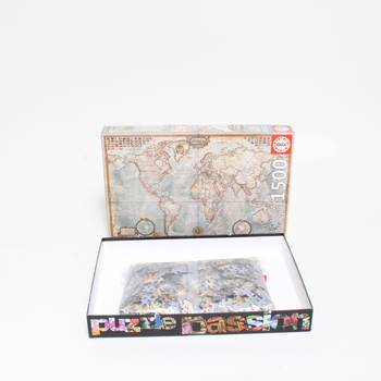 Puzzle mapy světa 1500 Educa 16005