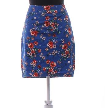 Dámská sukně Orsay modrá s květy