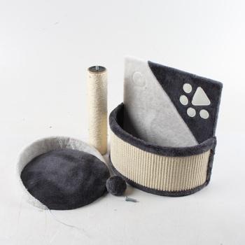 Škrabadlo pro kočky béžovo šedé barvy