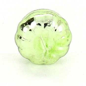 Skleněný svícen na čajovku zelené dýně 12 ks