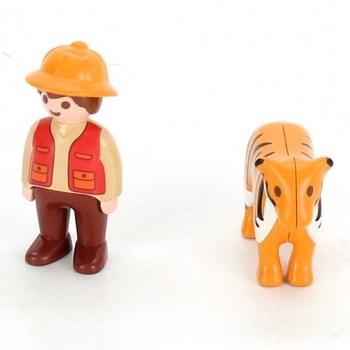 Figurky Playmobil lovec s tygrem 6976