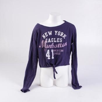 Dívčí tričko H&M fialové se zavazováním