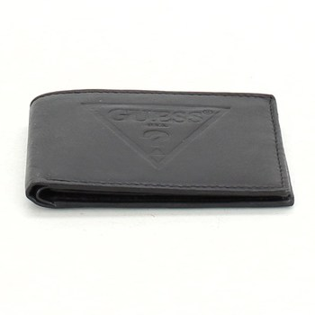 Kožená peněženka Guess černá