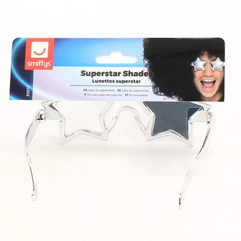 Brýle Smiffys Super Star, stříbrné