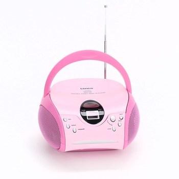 CD přehrávač Lenco SCD-24 růžový