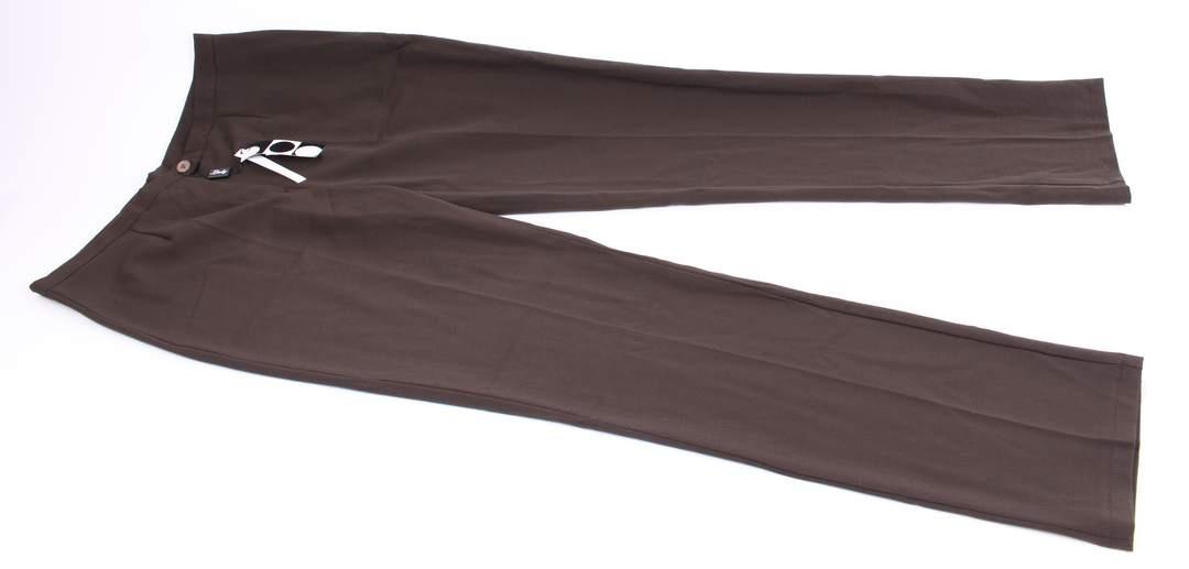Dámské společenské kalhoty Mezzo s puky hnědé