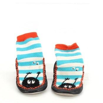 Dětská obuv capáčky vícebarevné