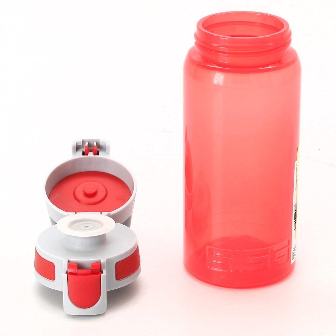 Plastová láhev Sigg červená