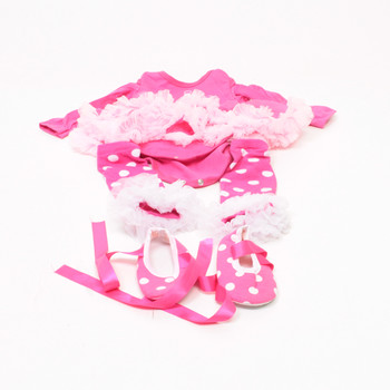 Dívčí šatičky narozeninové 1. rok růžové