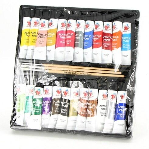 Akrylové barvy TBC The Best Crafts 24 ks